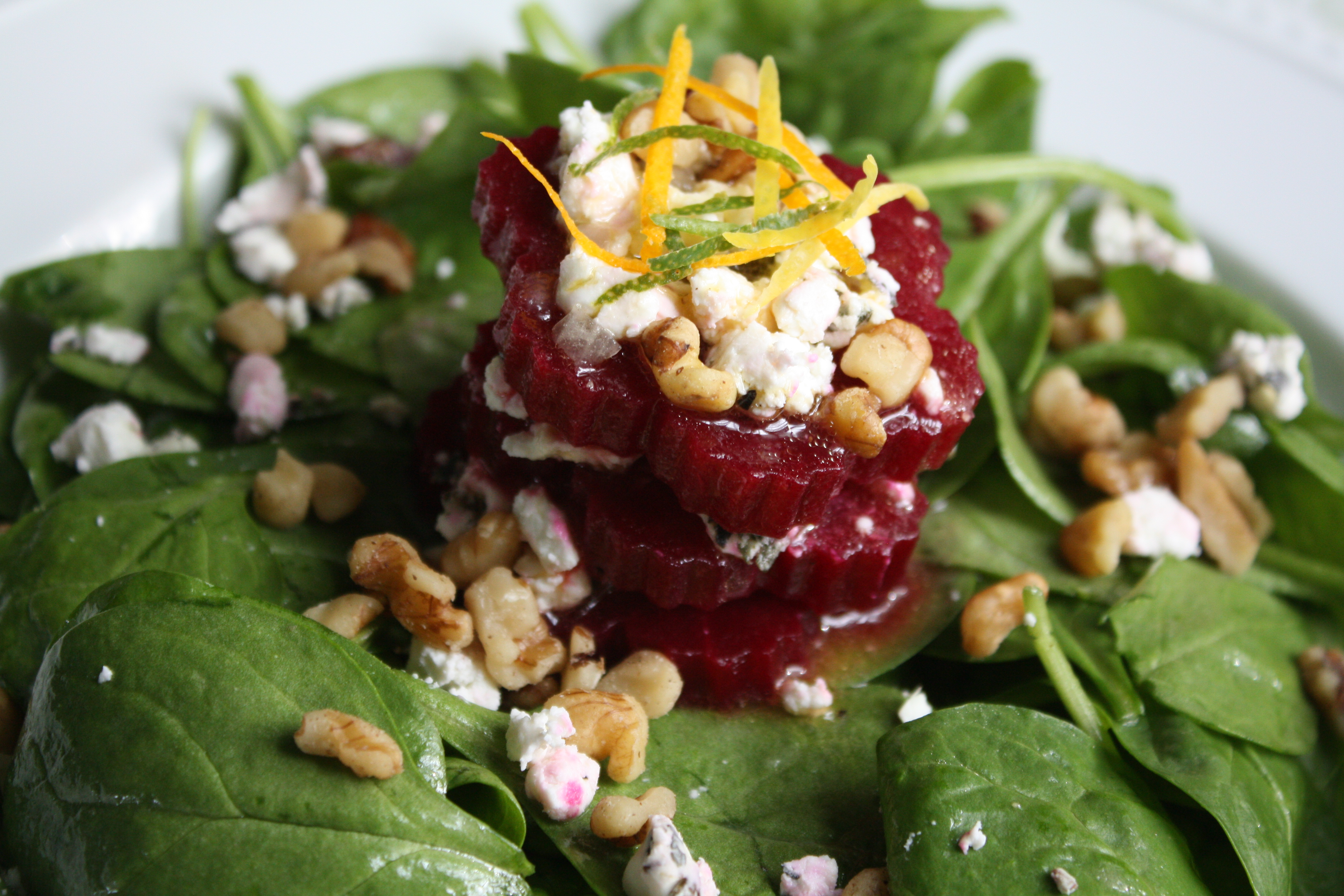 Roasted Beets and Goat Cheese in a Citrus-Honey ...