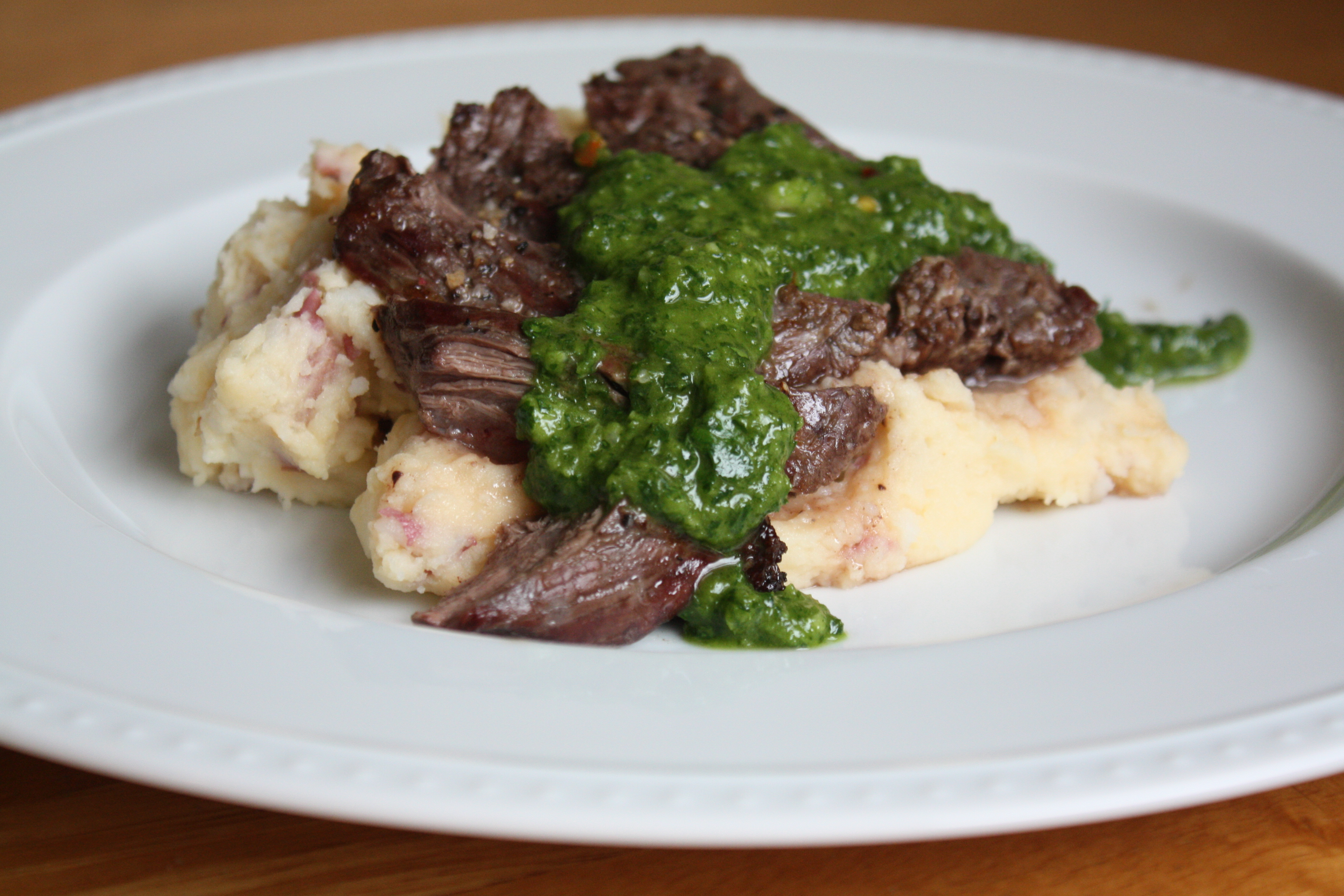 Broiled Skirt Steak with Chimichurri Sauce | The Gourmand Mom