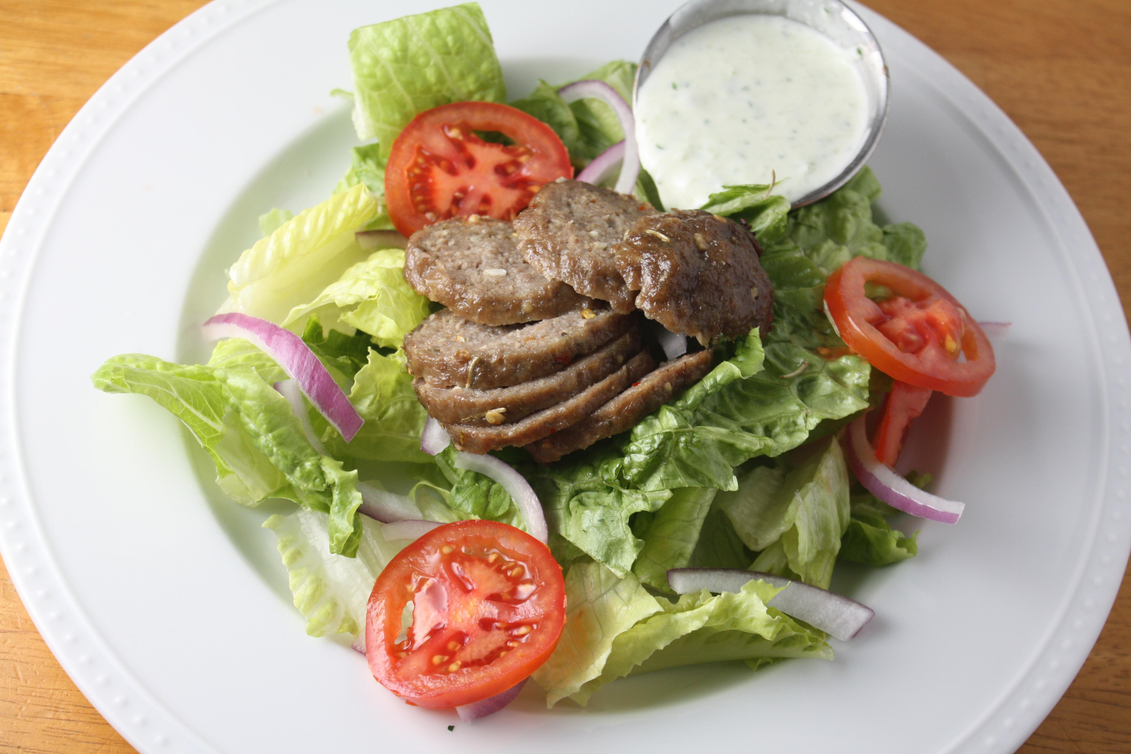 Lamb Gyro Salad with Tzatziki Dressing | The Gourmand Mom