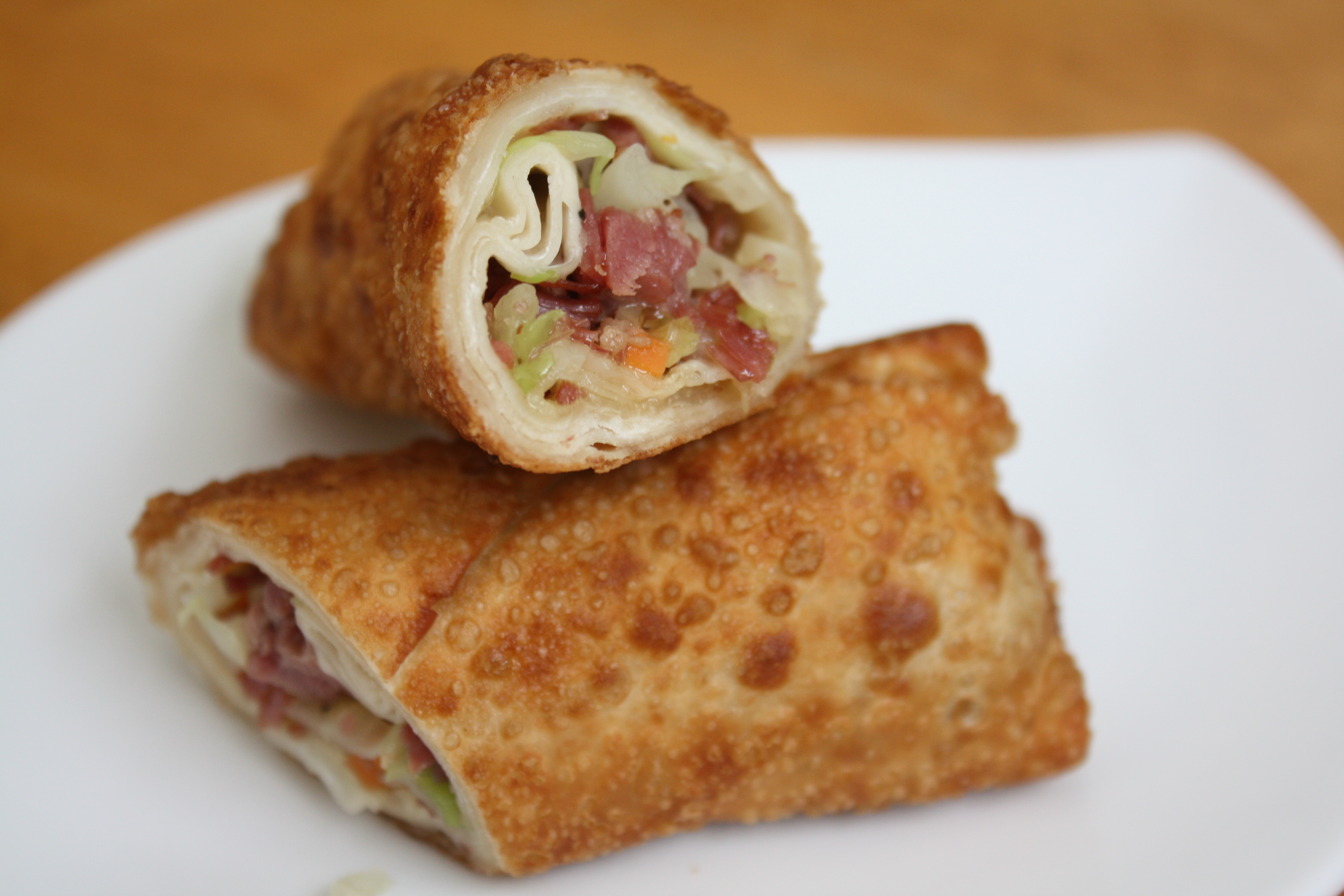 Corned Beef and Cabbage Egg Rolls | The Gourmand Mom